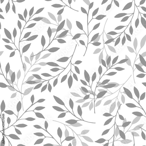 Tapety białe  floral-seamless-pattern-of-the-branches-vector-illustration-background-branches-with-gray-leaves-on-white-background