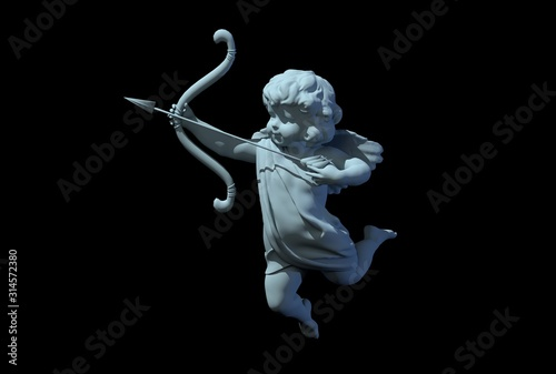 Photo cupid angel for valentines day 3D render
