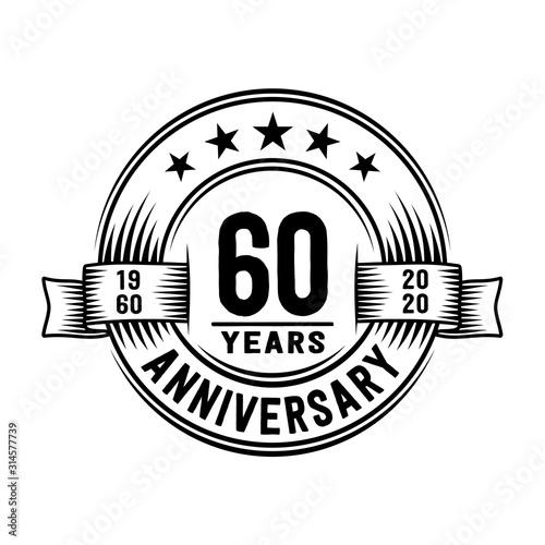 Fotografie, Tablou 60 years anniversary celebration logotype