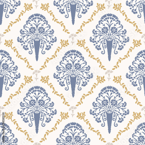 Foto French shabby chic damask vector texture background