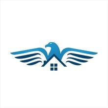 Eagle Home Logo Design Vector For Property Housing Company Concept Illustration