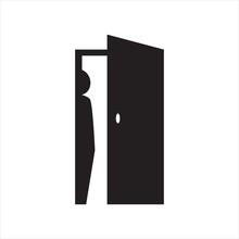 Hide Person Logo Design Silhou...