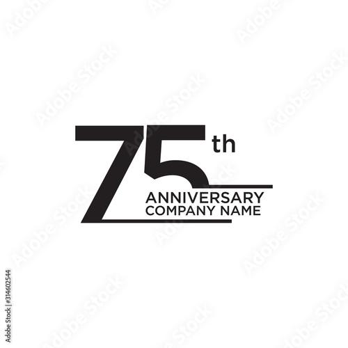 Foto 75th year anniversary icon logo design template