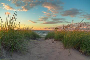 Dune Path at Sunset