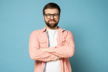 Funny Bearded Man With Glasses...