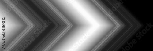 abstract-black-and-white-light-line-arrow-direction-modern-panoramic-futuristic-background-illustration