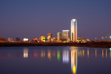 Oklahoma City At Sunset