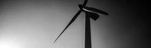 Wind Turbine Silhouette Bottom...
