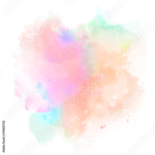 Obraz abstract colorful splashes on white background - fototapety do salonu