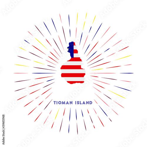 Tioman Island sunburst badge Canvas Print