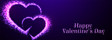 Two Sparkle Purple Hearts For ...
