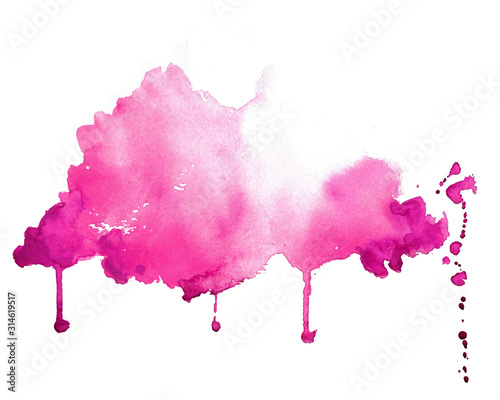 Fototapeta abstract pink hand painted watercolor texture background obraz