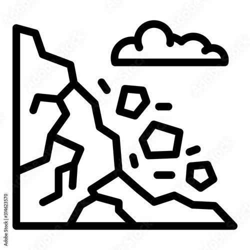 Fotografie, Obraz Mountains rockfall icon