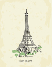 Eiffel Tower, Paris, France. V...