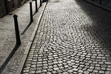 Cobblestones On The Street Of ...