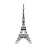 Fototapeta Fototapety z wieżą Eiffla - Paris Eiffel Tower vector illustration