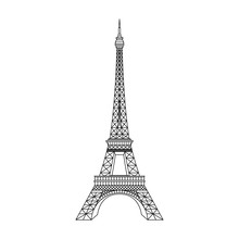 Paris Eiffel Tower Vector Illu...
