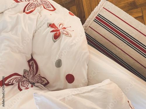 Fototapeta Linens in the bedroom obraz na płótnie