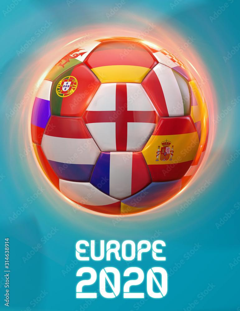 Fototapeta England Europe Football 2020 Teams