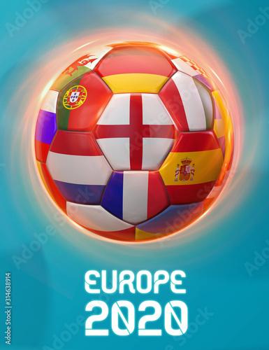 Obraz England Europe Football 2020 Teams - fototapety do salonu