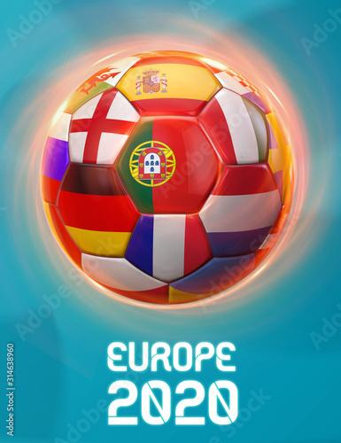 Obraz Portugal Europe Football 2020 Teams - fototapety do salonu