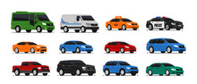 Car Icons Collection. Vector I...