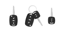 Сar Keys. Charm Of The Alarm System. Isolated Vector Illustration In Flat Style.