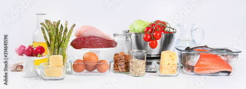 Photo Healthy low carbs products