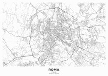 Rome City Map Poster. Detailed...