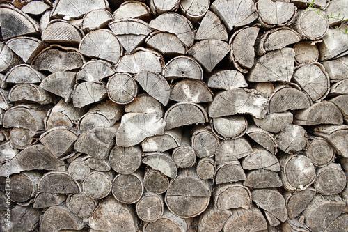 Photo getrocknetes Brennholz für den Kamin