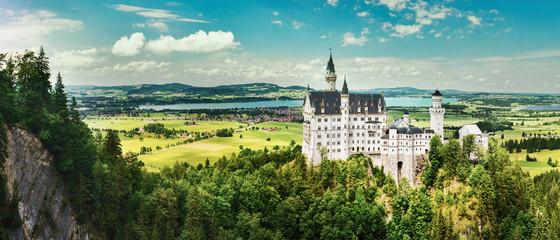 Neuschwanstein castle in summer, Germany