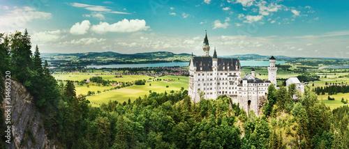 Fototapeta Neuschwanstein castle in summer, Germany obraz