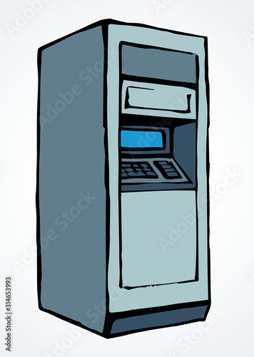 ATM device icon. Vector drawing Canvas Print