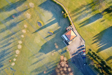Aerial View Of Golf Course Gre...