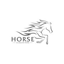 Fast Horse Logo Design Vector,...