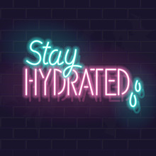 Neon Stay Hydrated Typography ...