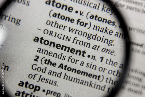 Cuadros en Lienzo The word or phrase atonement in a dictionary.