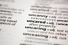 Word Or Phrase Uncared In A Dictionary.