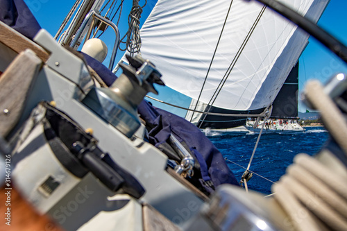 Fototapety, obrazy: Sailing action scenes