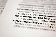 Word Or Phrase Uncommunicative...