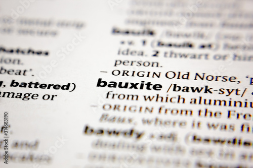 Word or phrase bauxite in a dictionary. Wallpaper Mural