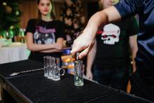Barman Preparing A Cocktail At A Party