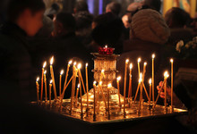 Christmas Service In A Russian...