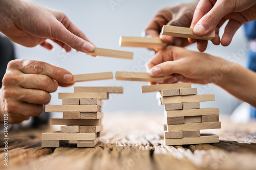 Teamwork Or Building Bridges Concept