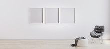 Three Blank Poster Frames In R...