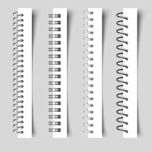 Realistic Spirals Notebook. 3D...