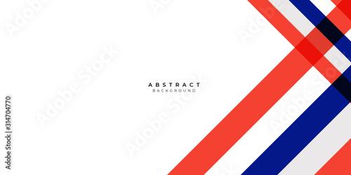 Fototapeta White Red Silver Blue Box Rectangle Abstract Background Vector Presentation Desi