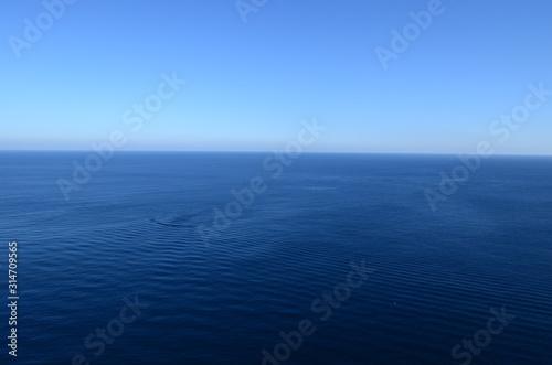 horizonte en el azul del mar mediterraneo Canvas Print