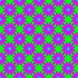 canvas print picture - Seamless floral pattern on the neon green background