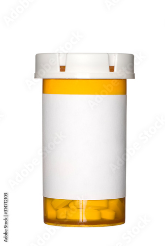 Fototapeta Pill bottle on white background obraz